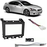 Fits Nissan Maxima 2009-2014 Double DIN Harness Radio Install Kit - Black Dash