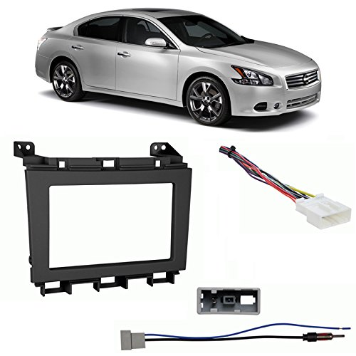 Fits Nissan Maxima 2009-2014 Double DIN Harness Radio Install Kit - Black Dash Nissan Maxima Radio