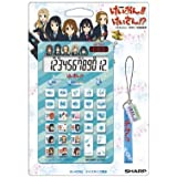 シャープ キャラクター12桁ナイスサイズ電卓 「けいおん! ! 」ブルータイプ 電卓 ストラップ付 EL-KON2