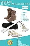 Metal Shoe Horn, Long Handled Shoehorn for