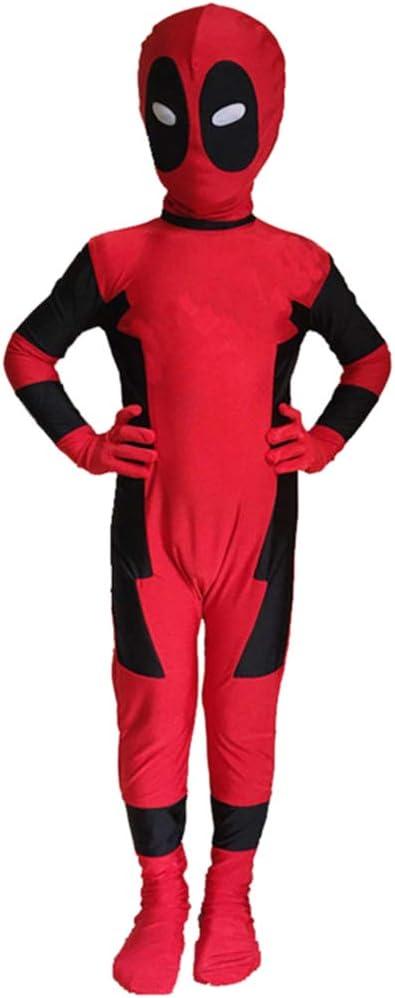 NDHSH Deadpool niño Cosplay Disfraz Disfraz Jumpsuit Onesies ...