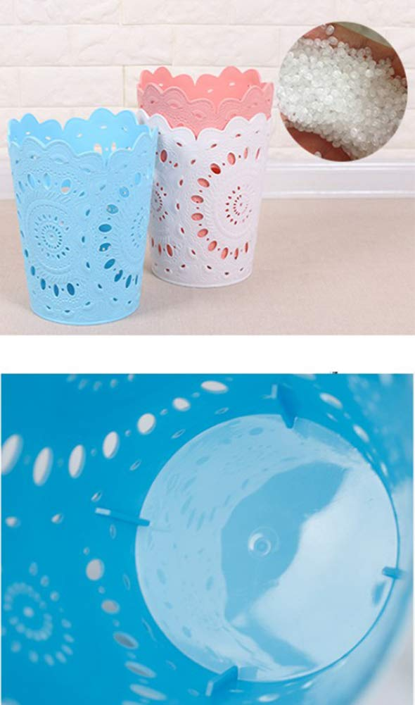 blau ohne Deckel Abfalleimer Papierkorb 19.8 * 14.5 * 24CM Papierkorb f/ür Home Office WDOIT M/ülleimer Plastik