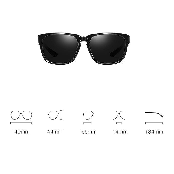 huanle Aluminio-magnesio, Gafas De Sol Polarizadas, Gafas De Sol Deportivas, Gafas De Ciclismo para Hombres, Montura Dorada/Ceniza Negra: Amazon.es: ...