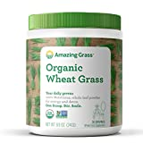 Amazing Grass Organic Wheat Grass Powder, 30 Servings, 8.5oz, Greens, Detox, Alkalize, whole leaf, Gluten Free, GMO Free, Kosher, wheatgrass, vegan