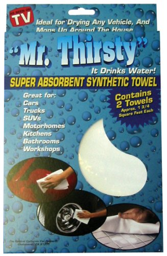 California Car Duster 21003 Mr. Thirsty Drying Cloths. 2pk