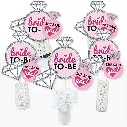 Centerpieces For Bridal Shower (Bride-to-Be - Bridal Shower or Classy Bachelorette Party Centerpiece Sticks - Table Toppers - Set of)