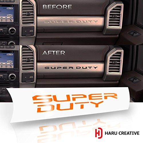 Haru Creative - Ford Super Duty F250 F350 F450 (2017-2018) Glove Box Dashboard Letter Insert Overlay Vinyl Decal - Gloss (Super Duty Gloves)