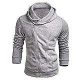 kitchen 67 coupons Toimothcn Mens Lightweight Hoodie Pullover Tops Long Sleeve Casual Zipper Hooded Sweatshirt Outwear (Gray,L)