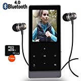 Newiy Start MP3 Player Bluetooth,8GB Hi-Fi Lossless Sound Music Player Touch Button, FM Radio,Voice Recorder Function,