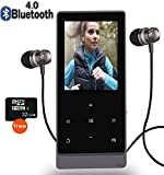 Newiy Start MP3 Player with Bluetooth,8GB Hi-Fi Lossless Sound Music Player with Touch Button, FM Radio,Voice Recorder Function, Support Expandable up to 32GB (Include 32GB SD Card)