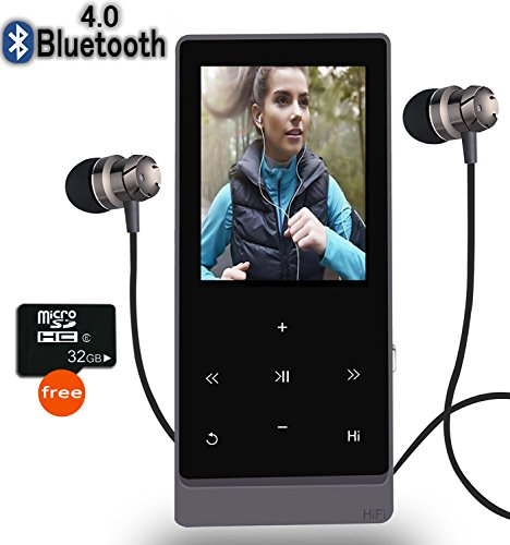 (Newiy Start MP3 Player with Bluetooth,8GB Hi-Fi Lossless Sound Music Player with Touch Button, FM Radio,Voice Recorder Function,)