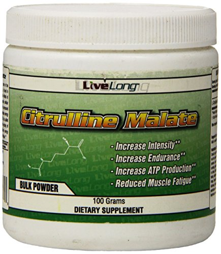 Citrulline Malate – Muscle Pump, Pre workout powder, Nitric Oxide Booster, Boost Muscle Vascularity Unflavored – 100g