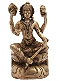 "Idol Collections Lord Sitting Vishnu Height 6.2"" Brass Statue Multi"