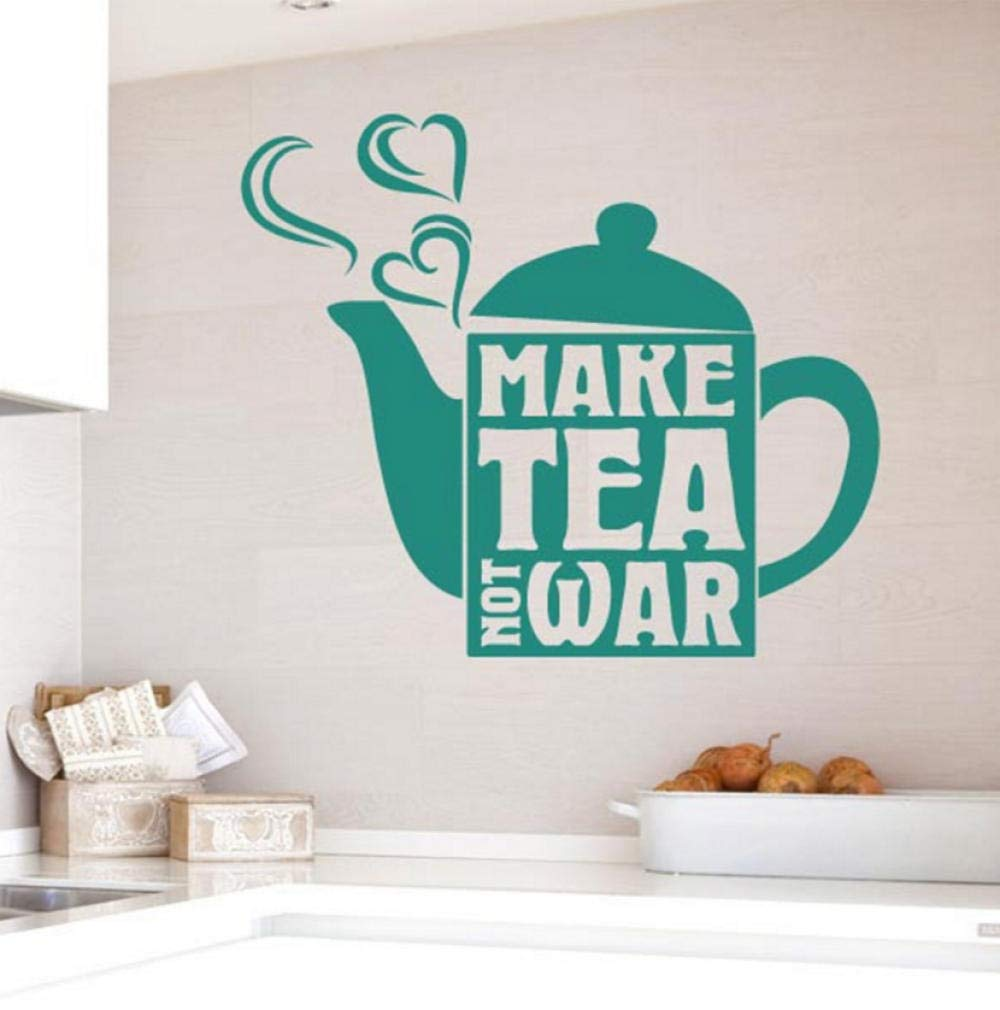 Acquisto PVC LiubaorongAdesivo da parete in vinile Caffettiera Modello Rimovibile Adesivo Salon Livingroom cucina Decorazioni da parete57x49CM Prezzi offerta