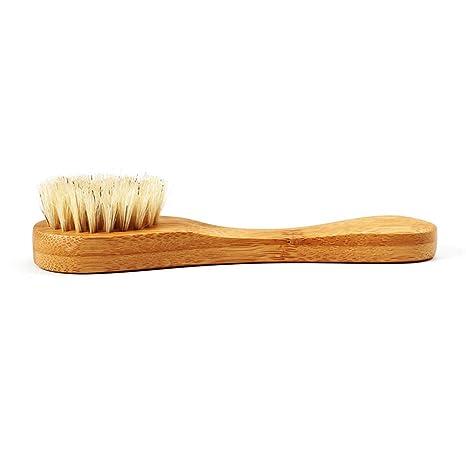 Dastrues Jabalí de cerdas Naturales Barba Cepillo de Madera Facial Facial Masajeador Brocha de Afeitar Herramienta