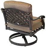 K&B PATIO LD1031-211 Nassau Swivel Rocker, Antique Bronze