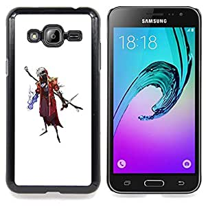 "Qstar Arte & diseño plástico duro Fundas Cover Cubre Hard Case Cover para Samsung Galaxy J3(2016) J320F J320P J320M J320Y (Asistente de Goth"")"
