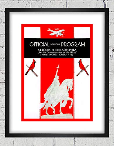 1931 Vintage St. Louis Cardinals - Philadelphia Athletics World Series Program Cover - Digital Reproduction - Print or Matted Print or Framed Matted Print