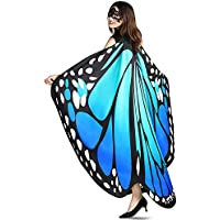 YXwin Halloween Butterfly Wings Shawl Fairy Costumes for Women (Multiple Colors)