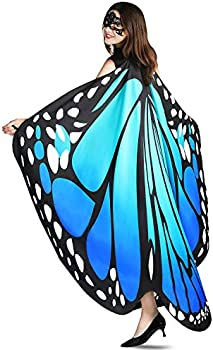 YXwin Halloween Butterfly Wings Shawl Fairy Costumes for Women