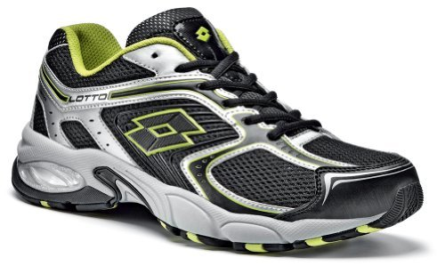 Lotto MADRID IV - Zapatillas de running para hombre BLACK/LIMA FLUO