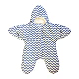Lee D.Martin Toddler Sleeping Bag Starfish Sleeping Sack,Infant Anti-kicking Quilt,Starfish Nursling Bunting Baby Bunting Bag,Cozy & Comfortable Infant Swaddling Blanket,35.5x33.8 inches, Blue