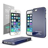 iPhone SE Case, Cellto Thin TPU [0.33 mm] [Precision Fit] Soft Flex [Anti Slip] Silicone Cover for Apple iPhone SE / iPhone 5S / iPhone 5 - Navy Blue