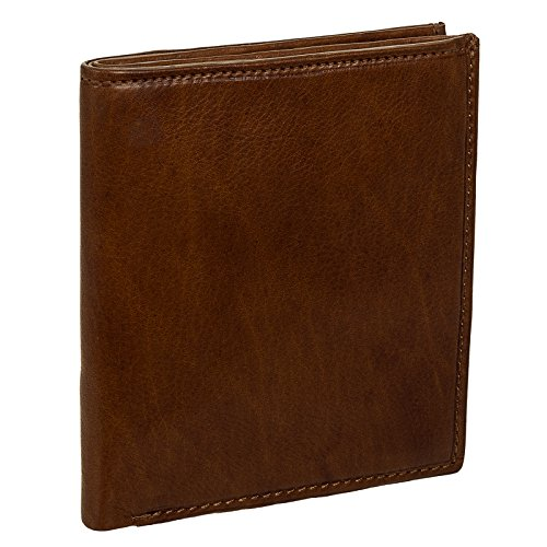 Paul & Taylor Men's Leather Big Hipster Bifold Wallet (British Brown) ()