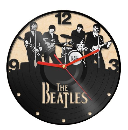 Clock Vinyl Record Recycled Wall Home Living Room Decor -The Beatles Band