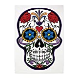 5' x 7' Area Rug Floral Sugar Skull Day of the Dead