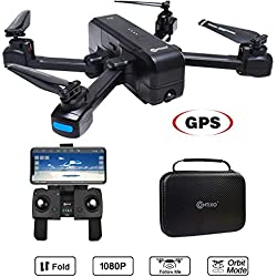 Contixo F22 RC Foldable Quadcopter Drone | Selfie, Gesture, 1080P WiFi Camera, GPS, Altitude Hold, Auto Hover, Follow Me, Waypoint.