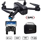 Contixo Independance Day F22 RC Foldable Quadcopter Drone | Selfie, Gesture, Gimbal 1080P WiFi Camera, GPS, Altitude Hold, Auto Hover, Follow Me, Waypoint Includes Drone Storage Case (F22)