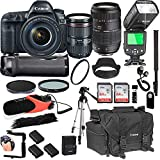 Cheap Canon EOS 5D Mark IV with 24-105mm f/4 L is II USM + Tamron 70-300mm + 128GB Memory + Canon Camera Bag + Pro Battery Bundle + Power Grip + Microphone + TTL SpeedLight + Pro Filters,(24pc Bundle)