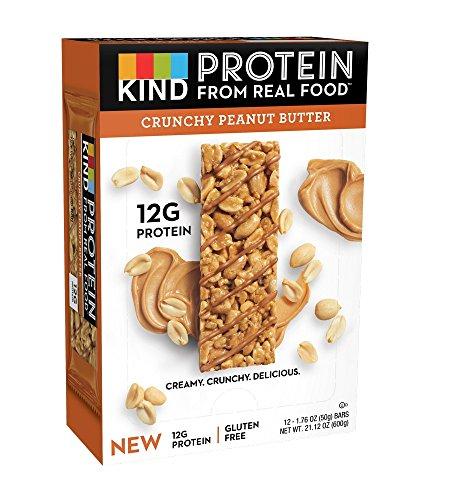 Breakfast Crunchy - KIND Protein Bars, Crunchy Peanut Butter, Gluten Free, 12g Protein,1.76oz, 12 count