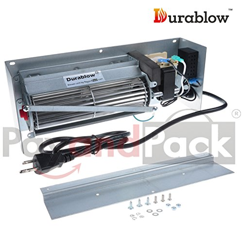 Durablow MFB003-B EP62-1 Replacement Fireplace Blower Fan Kit for Continental, Napoleon, Wolf Steel, Rotom (Napoleon Blower Kit)
