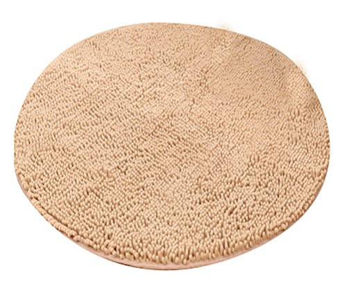 LivebyCare Heavy Multi-Size Round Carpet Floor Area Rug Doormat Chenille Shaggy Ground Rugs Entrance Entry Way Front Door Mat Runner for Parlour Halloween Party Hotel ()