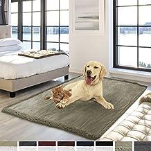 "Premium Waterproof Soft Sherpa Pet Blanket by PetAmi | Cozy, Comfortable, Plush, Lightweight Microfiber, 100% WATERPROOF (50"" x 40"", Taupe/Taupe Sherpa)"