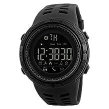 SKMEI 1250 Smart Watch Pedometer Calories Clocks Waterproof Digital Wristwatches Outdoor Sports Watches (black)