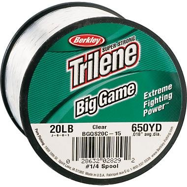 Game Spool Model Big - Trilene Big Game Mono 15Lb 900yd Quarter Spool Clear