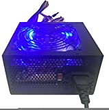 SHARK TECHNOLOGY® 750-watt Quad-blue LED 120mm Quiet Fan Black ATX 12V 2.0 24pin, 4x SATA, 6+2 pin PCI-E Desktop PC Power Supply Unit for Intel i3/i5/i7 & AMD Dual, Quad, Six Core Gaming Systems