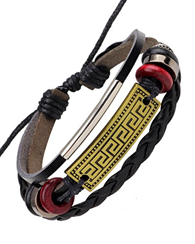 Young & Forever Men's Valentine Mentastic Uber Stylish Punk Band Bracelet by Young & Forever