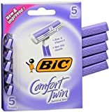 Bic Comfort Twin Wmn Size 5 Ct Bic Comfort Twin Sensitive Skin Disposable Razor For Women