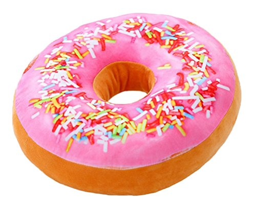 Doughnut Donut Stuffed Throw Pillow Stuffing Seat Chair Back Cushion Plush Doll Filling Toy for Living Family Rest Drawing Dinning Room Bench Coffee House