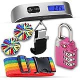 Luggage Accessories Kit, Luggage Scale, TSA Luggage Lock, pom id, luggage identifiers, great gift