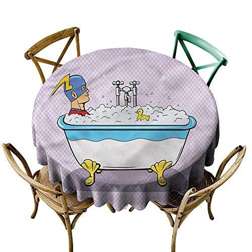 familytaste Comics,Picnic Round Covers Superhero Bubble Bath D 50