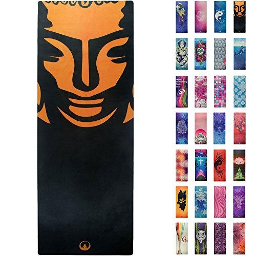 - Soul Obsession Printed Yoga Mat, Prana Yoga Mat, Bikram Yoga Mat - Incredibly Comfortable Yoga Mats for Men and Women - Gorgeous Microfiber Printed Designs - with Buddha - OmSession