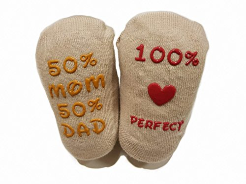 Baby Socks Gift Set - Unique Baby Shower or Newborn Present | Cute Quotes 4 Pair 0-12 Mnths by TWiNKLeToeS (Image #7)