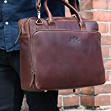 SID & VAIN leather laptop bag RYAN XL business