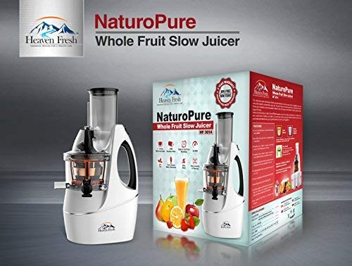 Heaven Fresh Slow Masticating Juicer, Provide You Anti-Oxidation Juice. (75mm Wide Mouth chute, 240W Brushless Quiet Motor, Include Frozen Dessert Strainer) by Heaven Fresh (Image #7)