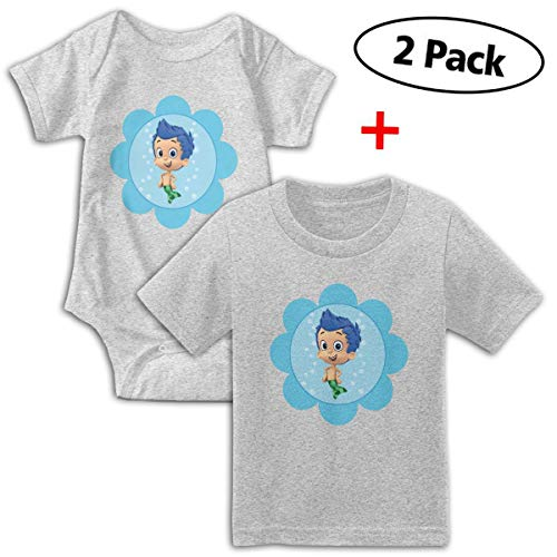 Bubble Guppies Babys Boy's & Girl's Short Sleeve Bodysuit Outfits And T-shirt ()